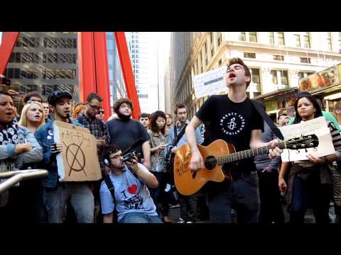 "Justin Sane Anti-Flag ""Turncoat"" at Occupy Wall Street"