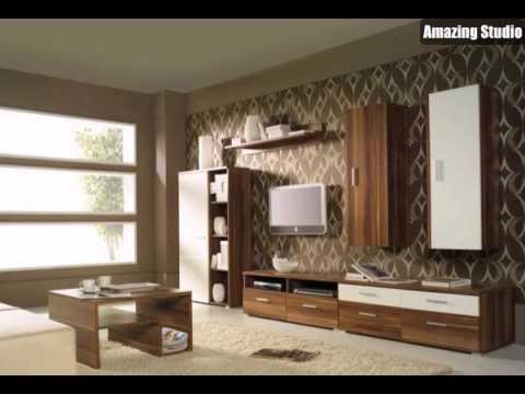 tapeten farben ideen moderne m bel und braune farbe youtube. Black Bedroom Furniture Sets. Home Design Ideas