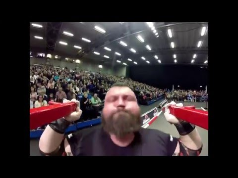 Eddie Hall - Viking press on 1st face  155 kg on 12 reps / Britain's Strongest Man 2016