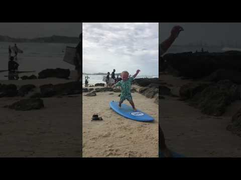Bobby Leach - WATCH: Toddler Practicing His Surfing