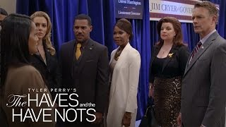 The DA Brings Down the Cryers and the Harringtons | The Haves and the Have Nots  | OWN
