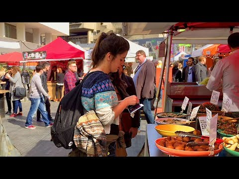LONDON WALK | Southbank Centre Food Market With Mouth-Watering Street Food | England