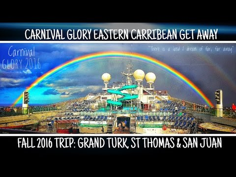 The Eastern Caribbean Carnival Glory Experience St. Thomas & Turks& Caicos Cruise