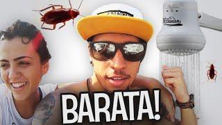BANHO COM BARATA E LAGARTIXA!