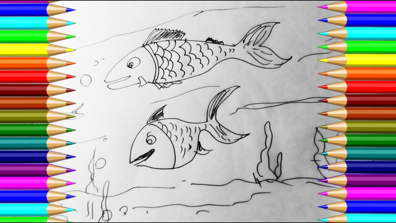 How To Draw Fish Step By Easy With Pen Very Drawing For Kids