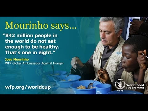 Jose Mourinho  UN World Food Programme Ivory Coast visit