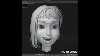 Blender 3D facial Rigging Test