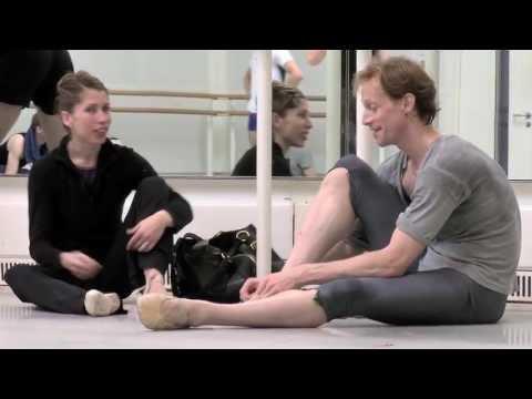Edward Watson preparing for Mayerling (The Royal Ballet)