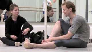 Edward Watson preparing for Mayerling (The Royal Ballet)