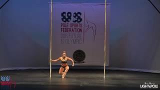 Pole Sport Championships 2017 - Competitive Senior Women's Champion - Rafaela Montanaro