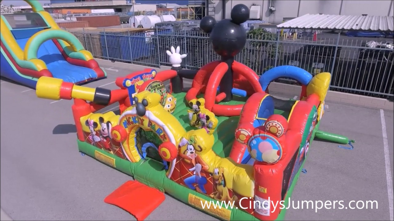 Mickey Park Toddler Playland Inflatable Rental By Cindys