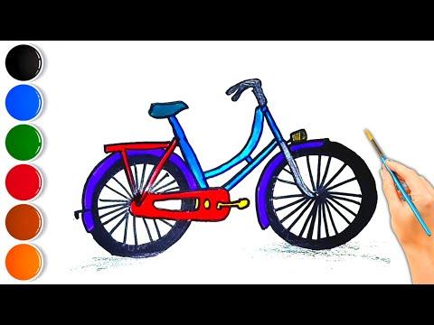 Bicycle Drawing #Shorts #drawing #art #howtodraw #shorts #coloring #satisfyingart #kids #bike thumbnail