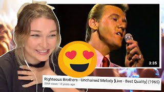 New Zealand Girl Reacts to Righteous Brothers - UNCHAINED MELODY LIVE!! 😍