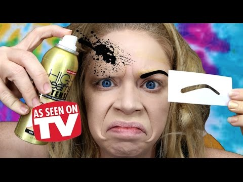 SPRAY PAINT EYEBROWS! - DOES THIS THING REALLY WORK?