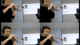 トランペットアンサンブル譜面を作ってみました。 NHK連続テレビ小説『...