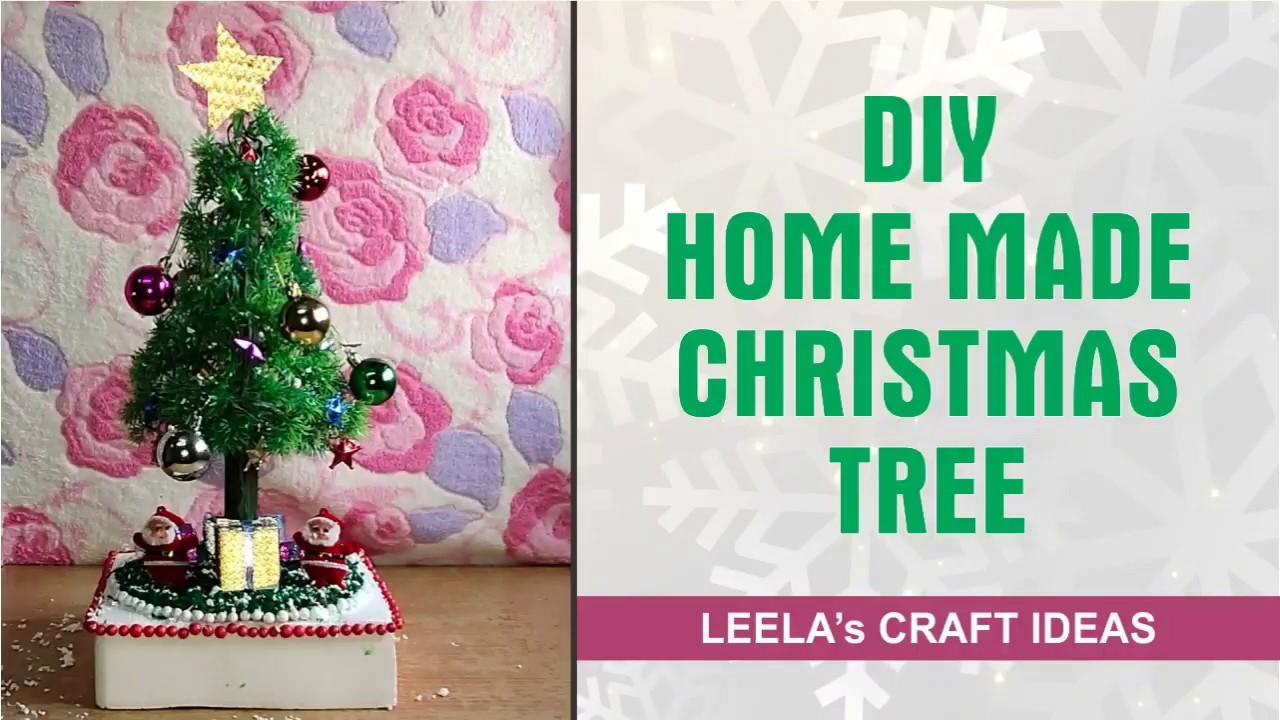 How to make Christmas tree    क्रिसमस ट्री बनाने का आसान तरीका (L.P. CRAFT IDEAS) - YouTube