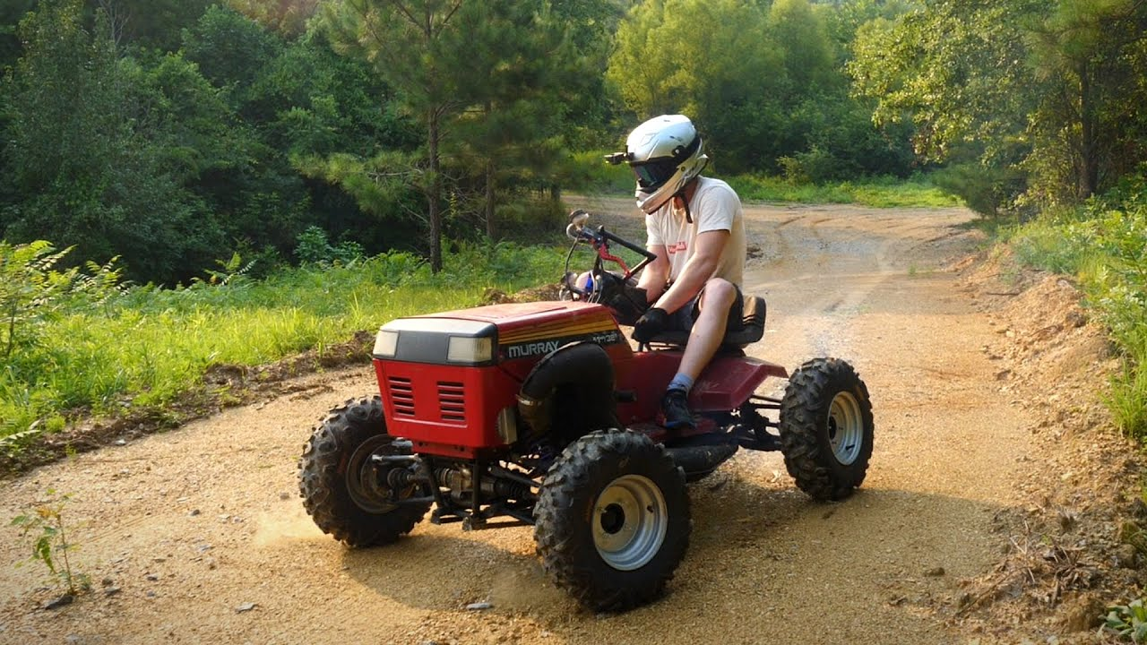 4WD 100hp triple Murray Riding Mower Off-road TEST!