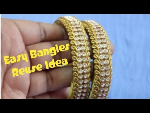 Easy  And Amazing Old Bangle Reuse Creative Craft Work || DIY