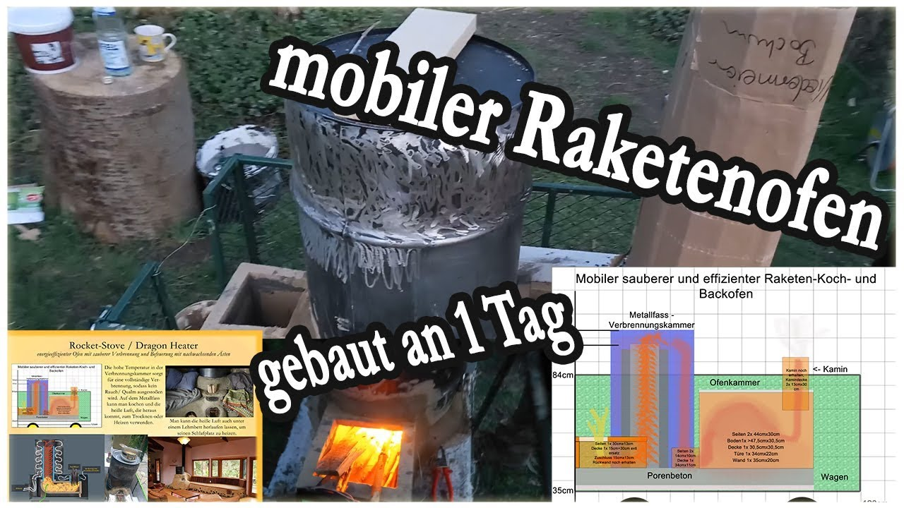 mobiler Raketenofen-Bau-Workshop - für Demo-, Camp- und Straßenküche ...