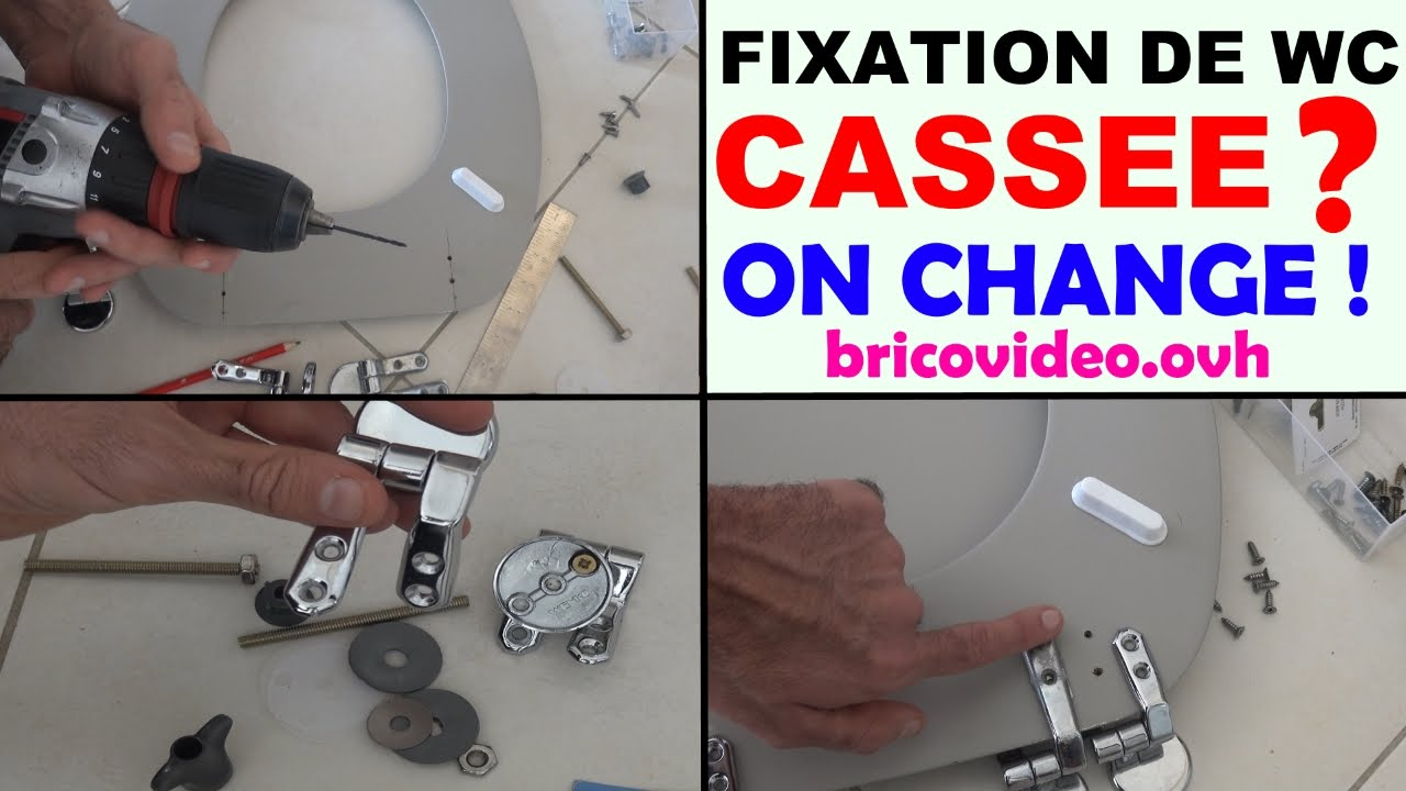 Changer Une Cuvette De Wc changer fixation abattant de wc toilette cassée ? fixation wenko