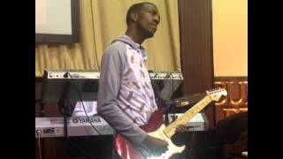 Xeryus Gittens Making a The Guitar Talk at New Life Church in Lithonia, Ga. @XeryusG