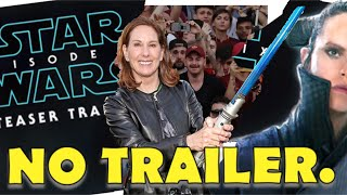 WTF LUCASFILM DISAPPOINTS STAR WARS FANS AGAIN.  NO TRAILER FOR THE SUPER BOWL.  NOTHING.