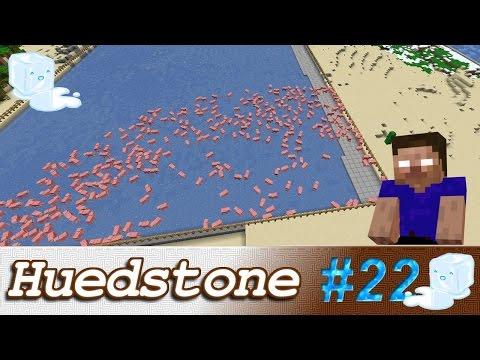 Huedstone E22: Porcolândia, Mini shop & Piscinão de Gelo | Minecraft | +Uma