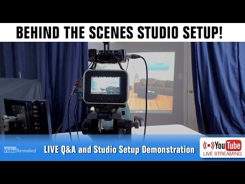 Behind The Scenes Studio Setup with VideoRevealed.