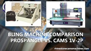 Bling Machine Comparison - Live Online Comparison of the ProSpangle and CAMS Bling Machines