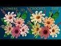 como hacer flores margaritas a crochet en punto 3d tejido muy fácil a ganchillo tallermanualperu