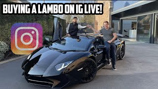 BUYING a £300k Lambo SV on INSTAGRAM LIVE from Carl Hartley!
