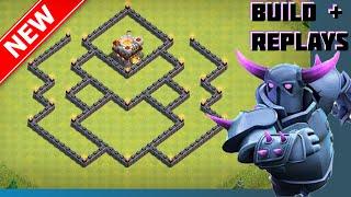 New BEST Th7 War/Trophy Base [Build+Replays]   The Widow   Anti-Hog, Giant Healer & Drag