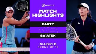 Ashleigh Barty vs. Iga Swiatek | 2021 Madrid Round of 16 | WTA Match Highlights