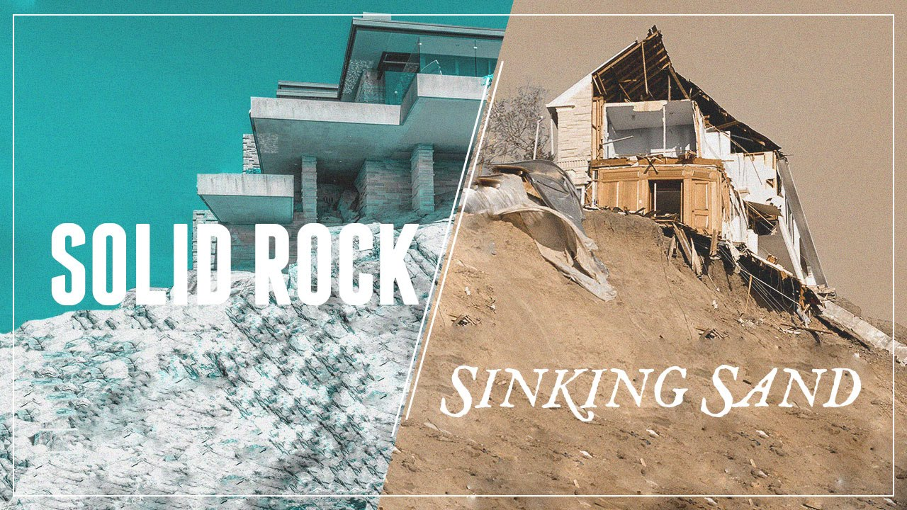 Solid rock sinking sand part 1 faith youtube for Build your house