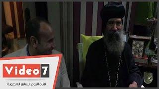 أسقف حلوان والمعصرة يداعب الحاضرين بحفل الإفطار الجماعى