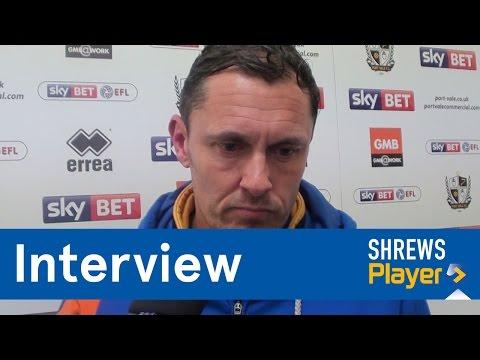 INTERVIEW | Paul Hurst post Port Vale (A) - Town TV