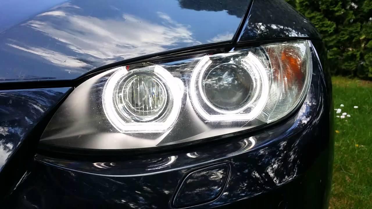 BMW E92 DTM M4 SMD LED angel eye retrofitting in original ...