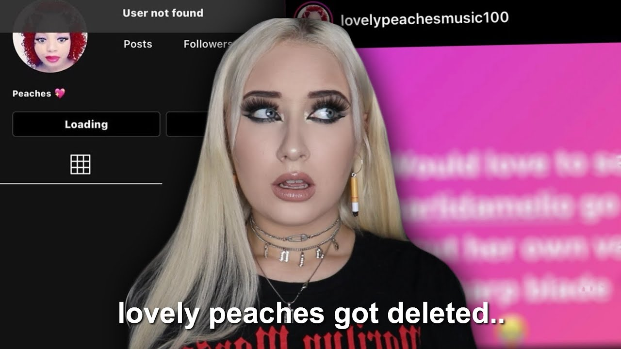 lovelypeaches gets deleted..