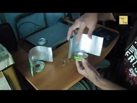Membuat Antena Kaleng Untuk Mempercepat Sinyal Modem