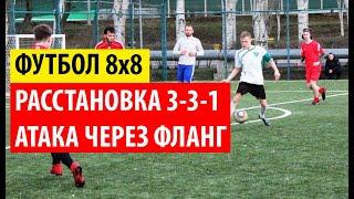 Тактика атаки правым флангом Расстановка 3 3 1 Футбол 8х8
