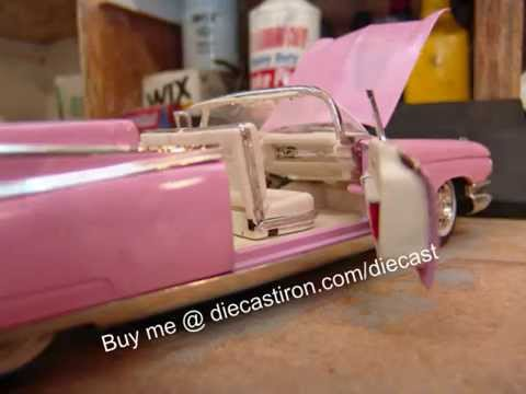 1959 Pink Cadillac 1 18 Scale Model In The Box Youtube