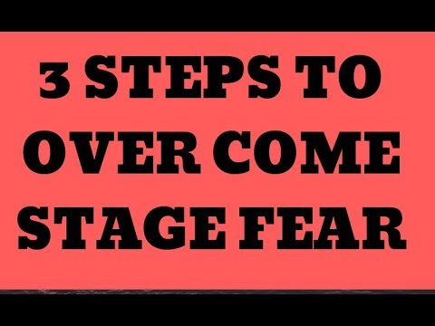 How to get rid off STAGE FEAR FOREVER