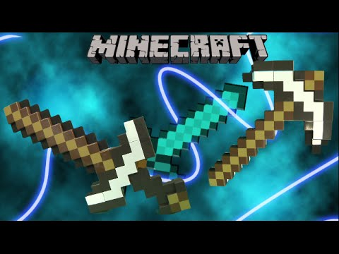 Minecraft Transforming Sword/Pickaxe from Mattel