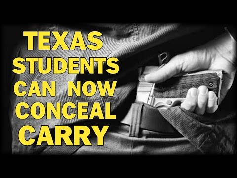 TEXAS STUDENTS CAN NOW CARRY HANDGUNS ON CAMPUS