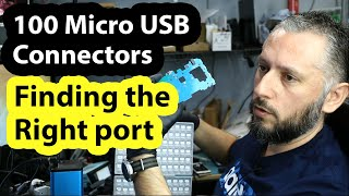 Finding the right USB connector of an unknown device using the 500 USB box.