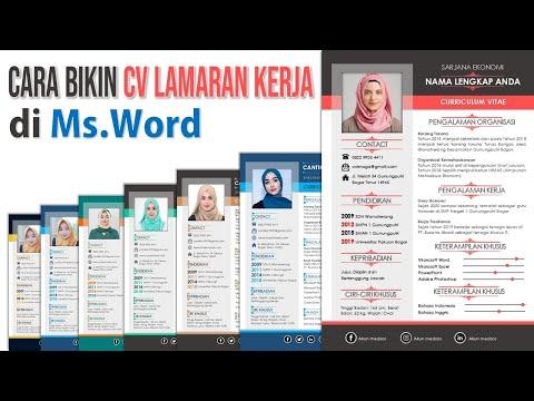 Cara Bikin CV Lamaran Kerja di Microsoft Word