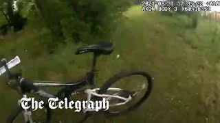 video: Pc commandeers bicycle from member of public to chase down suspected domestic abuser