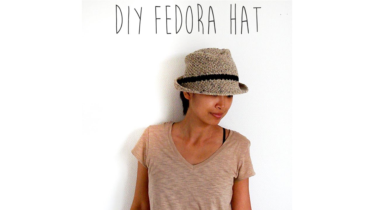Free Crochet Cowboy Hat Pattern For Adults : CROCHET TUTORIAL - FEDORA HAT - YouTube