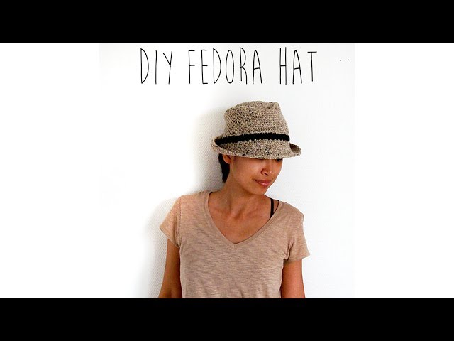 40c3b1210f1 CROCHET TUTORIAL - FEDORA HAT - YouTube