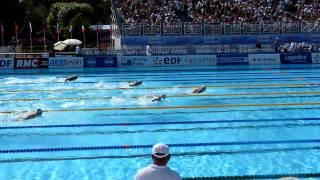 Michael Phelps, OPEN EDF 2010, fin du 200 papillon (butterfly 200m men)